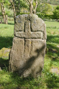 The ancient cross at Ardtaraig, broken and repaired.