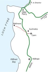 Auchnaha Cairn route
