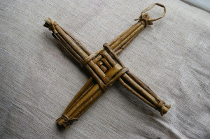 On St Brigit's day, little crosses are made from straw.