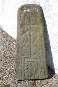 The lower part of the Kilmorich grave-slab, now at Cairndow.