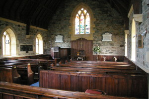 The interior of Inverchaolain Church