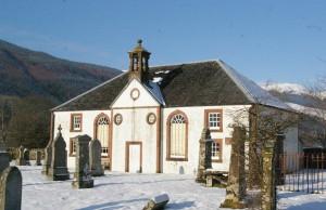 Kilmodan Church - a modern building on an ancient site.