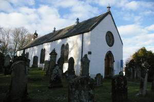 Kilfinan - the church of St Finan in its graveyard.