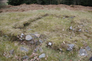 The footings of the chapel at Ardnadam.