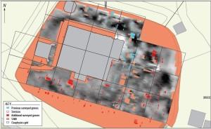 Resistivity Survey of Kilmun kirkyard in 2012 (reproduced with kind permission of John Atkinson, GUARD Archaeology)