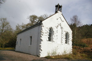 The modern church of Strathlachlan replaced the one at Kilmorie in the eighteenth century.