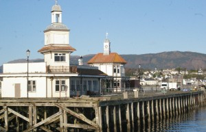 The elegant old pier and ferry terminal at Dunoon