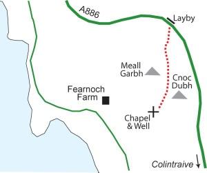Fearnoch Chapel route