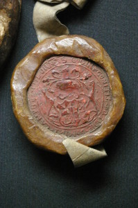 The seal of Colin, earl of Argyll in 1579 (National Records of Scotland,  GD112/51/39/8)