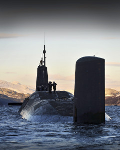 HMS Vanguard in the Firth of Clyde.  Photo: CPOA(Phot) Tam McDonald/MOD