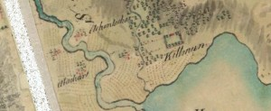Roy's map (c.1750) shows Achinlochar close  to the lands of Killmun, at the mouth of the River Eachaig.