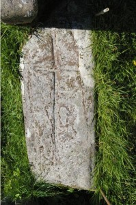Kilmun cross slab in situ